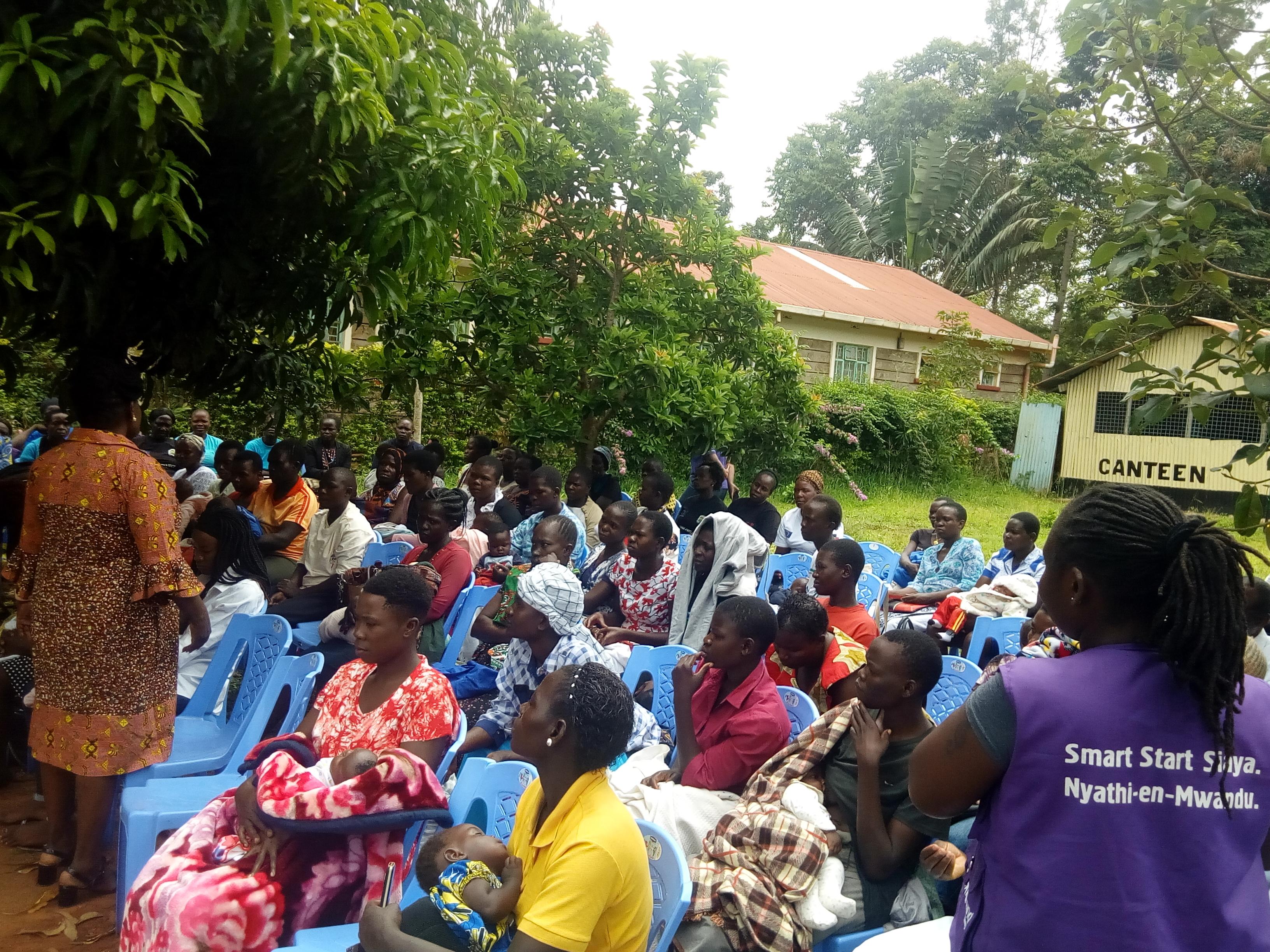 Ukwala Residents Sensitized on Nurturing Care for ECD. #NyathienMwandu
